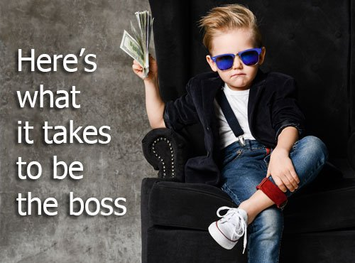 Here's what it takes to be the boss