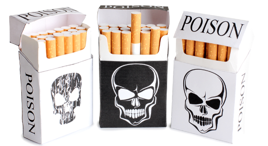 Mere warnings in cigarette packages have mixed results